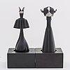 Zoltan popovits, schackpjÄser, 2 stycken, sterlingsilver. lapponia 1976 77