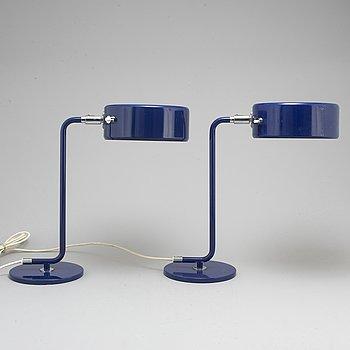 """ANDERS PEHRSON, bordslampor, ett par, """"Simris""""/""""Olympia"""", Ateljé Lyktan, Åhus, formgiven 1964."""