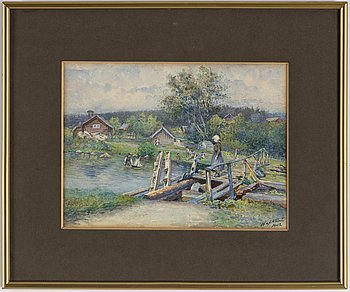 HILMA AF KLINT, akvarell, signerad H af Klint och daterad 1902.