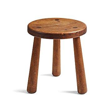 "310. Axel Einar Hjorth, an ""Utö"" stained pine stool, Nordiska Kompaniet, Sweden 1930's."