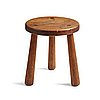 "Axel einar hjorth, an ""utö"" stained pine stool, nordiska kompaniet, sweden 1930's."