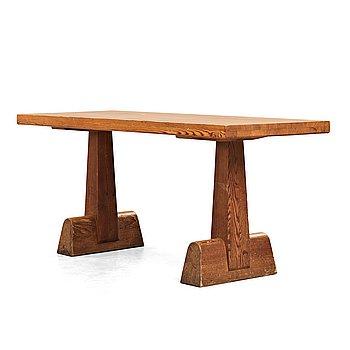 "303. Axel Einar Hjorth, a stained pine ""Uto"" table, Nordiska Kompaniet, Sweden 1930's."