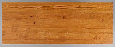 "Axel einar hjorth, a stained pine ""uto"" table, nordiska kompaniet, sweden 1930's."