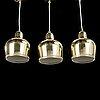 """Alvar aalto, taklampor, 3 st, a330s, """"guldklocka"""", artek, tidigt 2000-tal."""