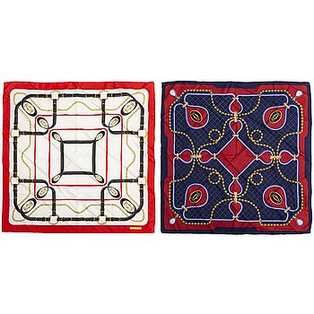 2 Cartier scarves.
