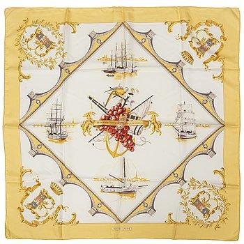 HERMÈS, a silk scarf 'Bordeaux Porte Océane'.