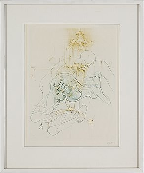 HANS BELLMER, 10 etchings in two colours, 1966-68, signed in pencil.