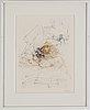 Hans bellmer, 10 etsningar i två färger, 1966-68, signerade med blyerts.