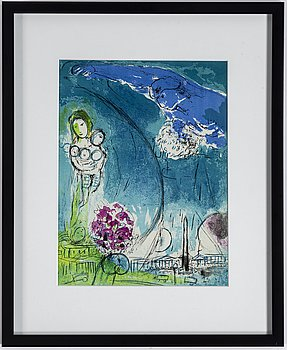 MARC CHAGALL, lithograph in colour, from: Verve 27-28, 1952.