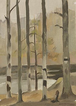 EERO NELIMARKKA, oil on canvas, signed and dated 1943.