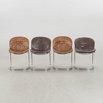 GASTONE RINALDI, a set of four Sabrina chairs.