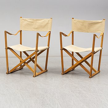 MOGENS KOCH, a pair of folding chairs, 'MK16', Denmark, second half of the 20th century.