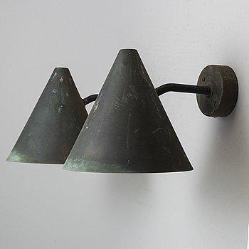 HANS-AGNE JAKOBSSON, a pair of 'Tratten' wall lights, Markaryd.
