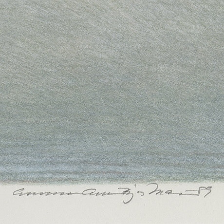 "Gunnar ""gebbe"" bjÖrkman, signed and dated -89 as well as numbered 30/190 in pencil."