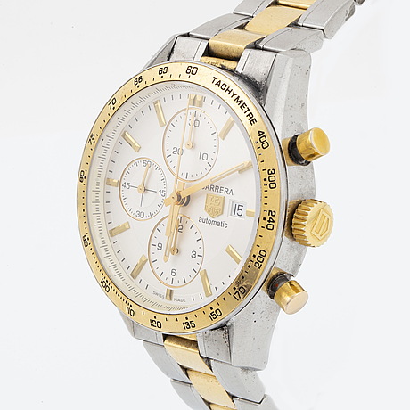 Tag heuer, carrera, wristwatch, chronograph, 41 mm