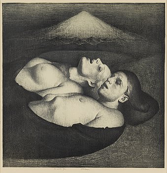 ODD NERDRUM, a lithograph, signed and numbered 29/50.