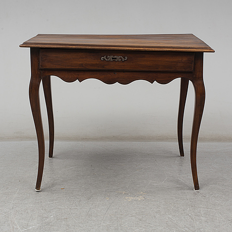 A rococo style 19th century writing table