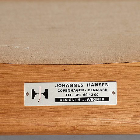 "Hans j wegner, a model ""jh 513"" chair for johannes hansen, 1960's"