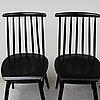 Ilmari tapiovaara, four 'fanett' chairs, edsbyverken