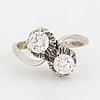 'toi et moi' brilliant cut diamond ring