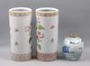 Vaser, 3 st, porslin. kina. 1900-tal.
