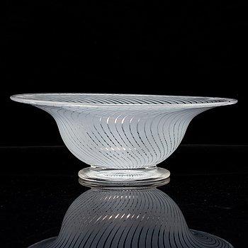 EDWARD HALD, skål, Graal, glas, Orrefors, 1900-talets andra hälft.
