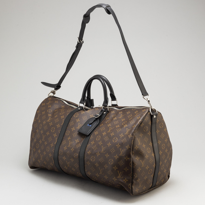 363d81aca7c LOUIS VUITTON, a 'Keepall Bandouliere Macassar canvas 55' bag. - Bukowskis