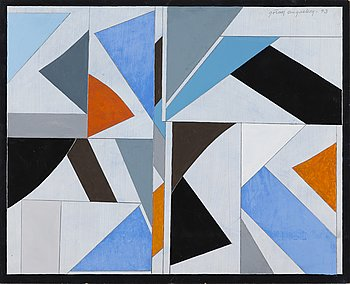 GÖRAN AUGUSTSON, gouache, signed and dated -93.