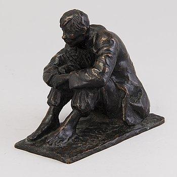 MATTI HAUPT, sculpture, bronze, signed.