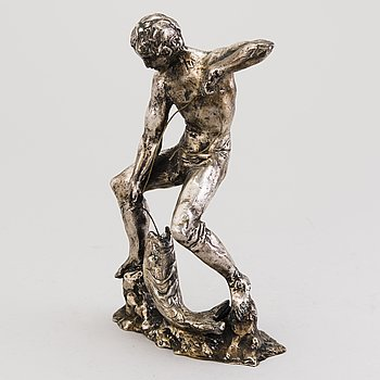 MATTI HAUPT, sculpture, silver, signed. Weight 2260 g.