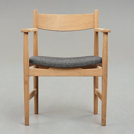 "Hans j wegner, karmstol, ""ch39"", carl hansen & søn, danmark, 1950-60-tal."