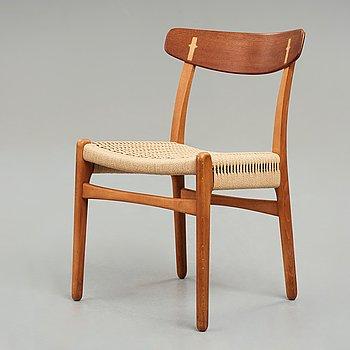"HANS J WEGNER, stol, ""CH23"", Carl Hansen & Søn, Danmark, 1950-60-tal."