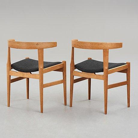 "Hans j wegner, a pair of  ""ch21"", chairs for carl hansen & søn, denmark, 1950-60's."
