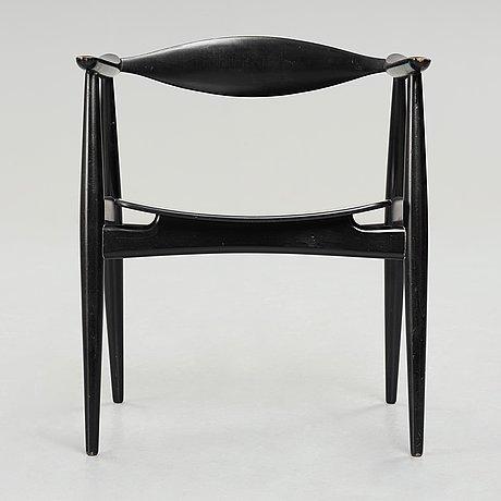 "Hans j wegner, karmstol, ""ch35"", carl hansen & søn, danmark, 1950-60-tal."