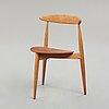 """Hans j wegner, """"the heart chair"""", fritz hansen, denmark 1950's."""