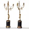 A pair of late gustavian three-light chandeliers, circa 1800.