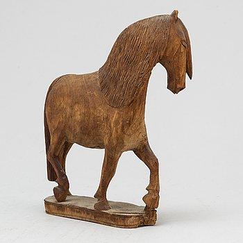 JEMT OLOV PERSON, skulptur, skuret trä, signerad, daterad Rättvik 1947.