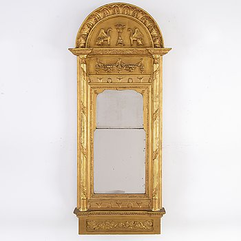 A Swedish Empire early 19th century mirror.