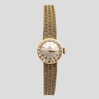 OMEGA, ladies wristwatch, gold 18K, c:a 26 g, c:a 10 mm.