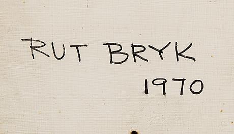"Rut bryk, relief, porslin, ""candy"", signerad rut bryk 1970."
