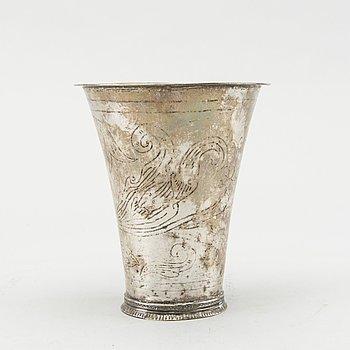 BÄGARE, silver. Johan Bergengren (1752-1788) Kristianstad, 1775. C:a 78 g.
