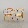 A pair of ligna armchairs, second half of 20th century