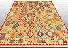 A carpet, kilim 287 x 198 cm.