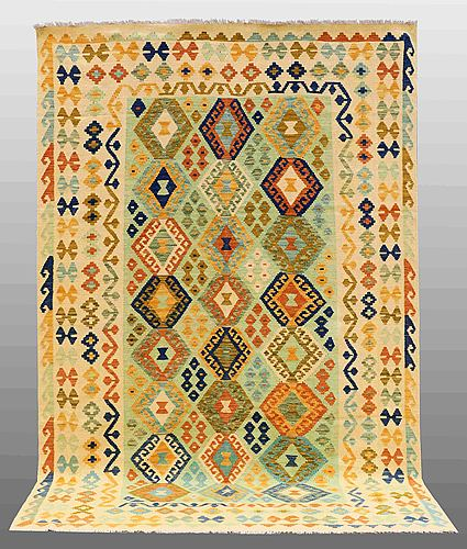A carpet, kilim, ca 301 x 200 cm.