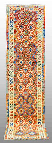 Gallerimatta, kelim, ca 300 x 77 cm