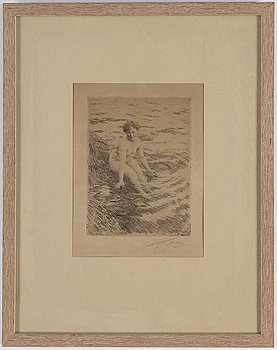 ANDERS ZORN, etching, signed, signed and dated in the plate 1911.