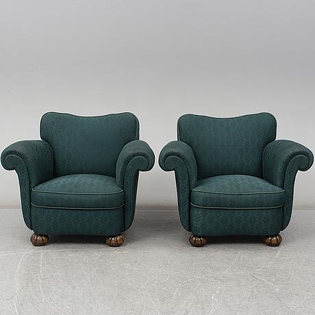 FÅtÖljer, ett par, 1930 40 tal