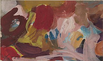 ADJA YUNKERS, gouache, signed and dated 1958.