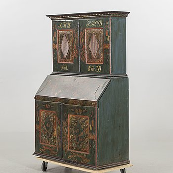 A 19th century cabinet. Dated 1839.