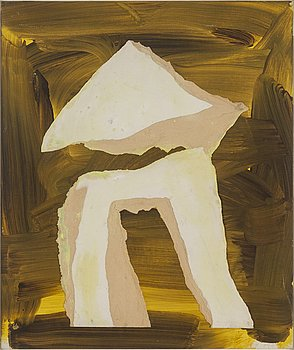 ADJA YUNKERS, acrylic and collage, signed and dated 1969.
